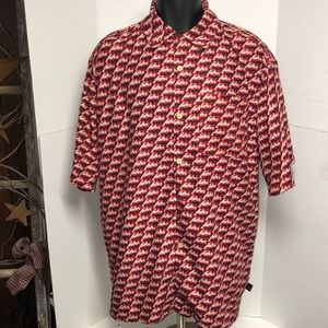 Vtg Fubu Collection Shirt spelled out all over